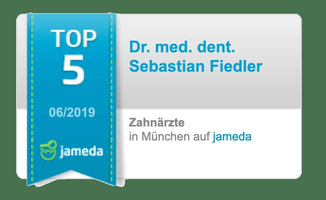 Jameda Auszeichnung - Top 5 Zahnärzte München